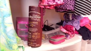 The Balvenie 17 DoubleWood is perfect for safekeeping a nine-year-old girl's jewelry.
